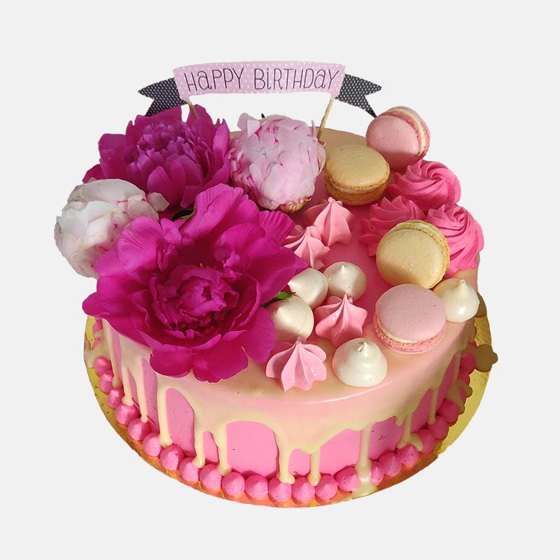 Motiv Happy Birthday Pink