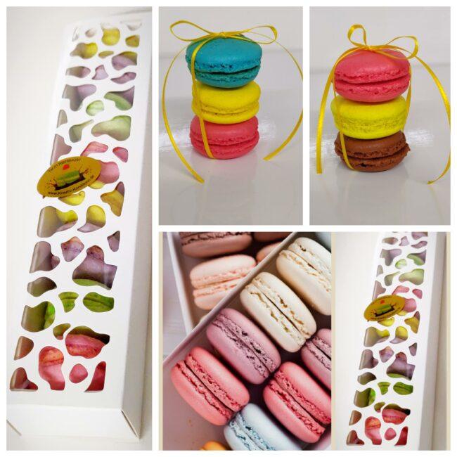 Macarons in verschiedenen Farben und Geschmacksrichtungen